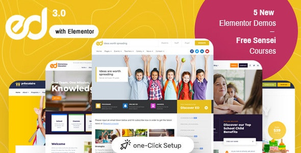 Nulled ThemeForest Ed School v3.5.0 - Education WordPress Theme