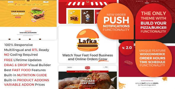 Nulled ThemeForest Lafka v2.4.1 - WooCommerce Theme for Burger Pizza Fast Food Delivery & Restaurant WordPress