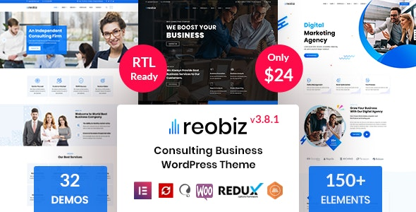 Nulled ThemeForest Reobiz v3.8.1 - Consulting Business WordPress Theme