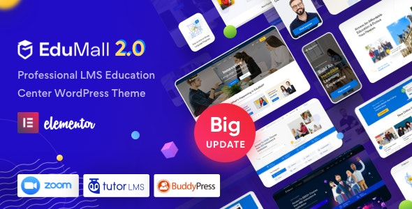 ThemeForest Nulled EduMall v2.6.0 - Professional LMS Education Center WordPress Theme