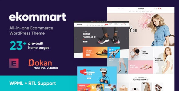 ThemeForest Nulled Ekommart v3.5.0 - All-in-one eCommerce WordPress Theme