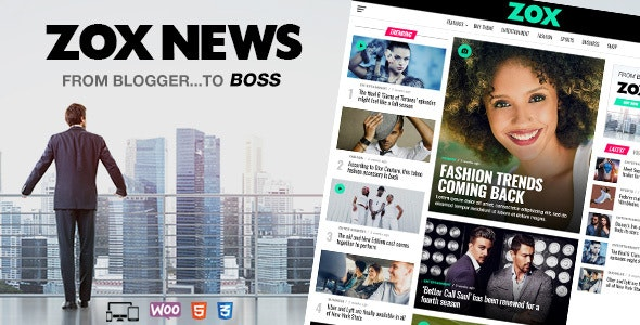 ThemeForest Nulled Zox News v3.9.0 - Professional WordPress News