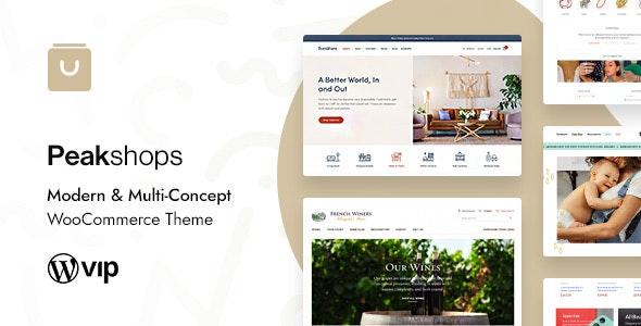 ThemeForest Nulled PeakShops v1.4.6 - Modern & Multi-Concept WooCommerce Theme