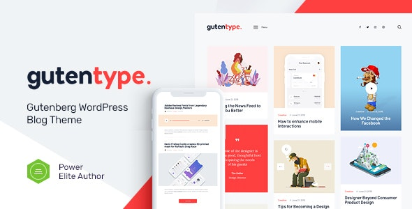 ThemeForest Nulled Gutentype v2.0 - 100% Gutenberg WordPress Theme