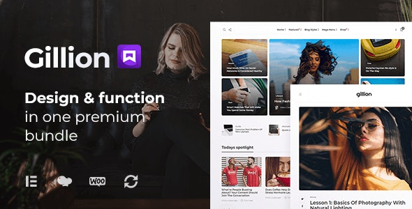 ThemeForest Nulled Gillion v4.0 - Multi-Concept Blog Magazine & Shop WordPress Theme