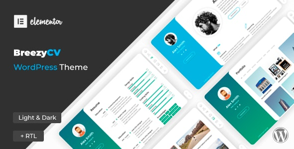 ThemeForest Nulled BreezyCV v1.5.1 - CV Resume WordPress Theme