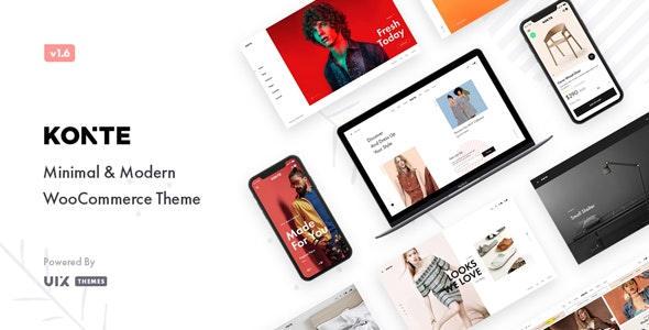 ThemeForest Nulled Konte v1.9.0 - Minimal & Modern WooCommerce Theme