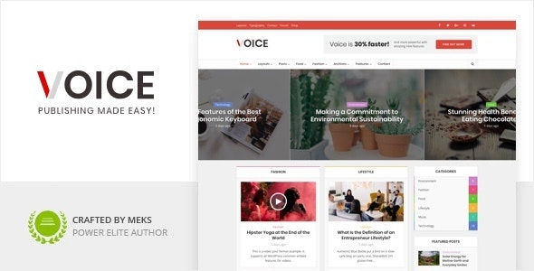 ThemeForest Nulled Voice v2.9.8 - Clean News Magazine WordPress Theme