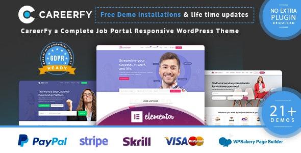 ThemeForest Nulled Careerfy v5.6.0 - Job Board WordPress Theme