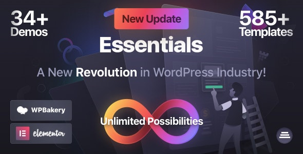ThemeForest Nulled Essentials v1.2.9 - Multipurpose WordPress Theme