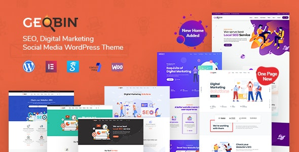 ThemeForest Nulled GeoBin v2.7.1 - Digital Marketing Agency, SEO WordPress Theme