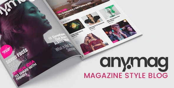 ThemeForest Nulled Anymag v2.1.2 - Magazine Style WordPress Blog