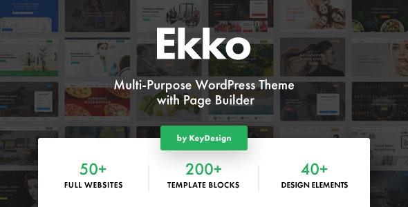 ThemeForest Nulled Ekko v2.6 - Multi-Purpose WordPress Theme with Page Builder