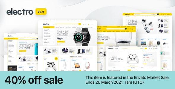 ThemeForest Nulled Electro v3.0.2 - Electronics Store WooCommerce Theme