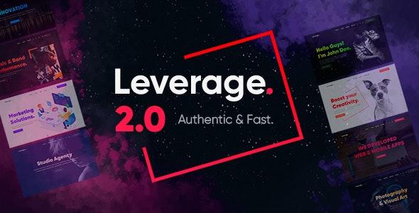 ThemeForest Nulled Leverage v2.0.7 - Creative Agency & Portfolio WordPress Theme