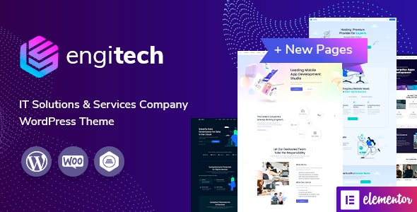 ThemeForest Nulled Engitech v1.3 - IT Solutions & Services WordPress Theme