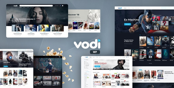 ThemeForest Nulled Vodi v1.2.5 - Video WordPress Theme for Movies & TV Shows