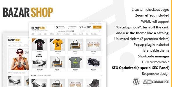 ThemeForest Nulled Bazar Shop v3.20.0 - MultiPurpose e-Commerce WordPress Theme