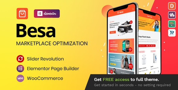 ThemeForest Nulled Besa v1.3.0 - Elementor Marketplace WooCommerce Theme