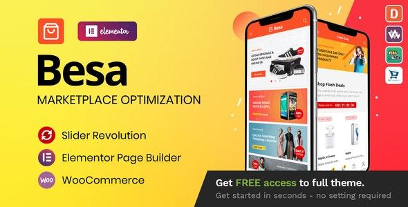 ThemeForest Nulled Besa v1.3.0 - Elementor Marketplace WooCommerce Theme