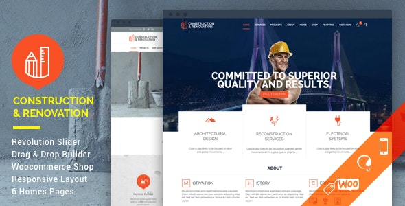 ThemeForest Nulled Construction v18.1 - Construction Building Company WordPress Theme