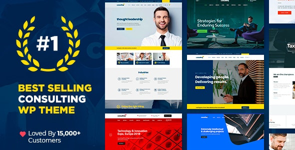 ThemeForest Nulled Consulting v6.1.1 - Business Finance WordPress Theme