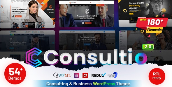 ThemeForest Nulled Consultio v2.0 - Consulting Corporate WordPress Theme