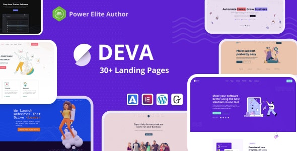 ThemeForest Nulled Deva v1.0.5 - 30+ Landing Pages WordPress Theme