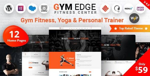 ThemeForest Nulled Gym Edge v4.2.2 - Gym Fitness WordPress Theme