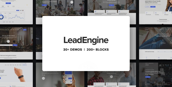 ThemeForest Nulled LeadEngine v2.9 - Multi-Purpose Theme with Page Builder