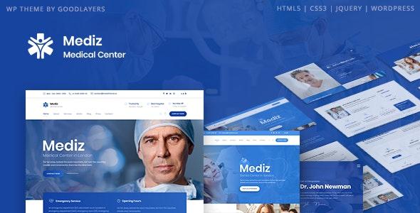 ThemeForest Nulled Mediz v2.0.3 - Medical WordPress Theme