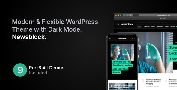 ThemeForest Nulled Newsblock v1.1.4 - News & Magazine WordPress Theme with Dark Mode