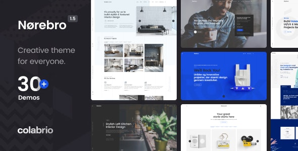 ThemeForest Nulled Norebro v1.5.3 - Creative Multipurpose WordPress Theme