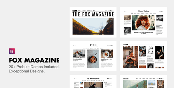 ThemeForest Nulled The Fox v4.6.7.1 - Minimal WordPress Blog Magazine Theme