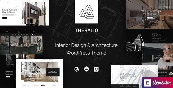 ThemeForest Nulled Theratio v1.1.4.3 - Architecture & Interior Design Elementor WordPress Theme
