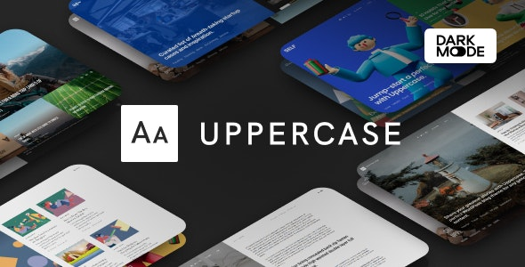 ThemeForest Nulled Uppercase v1.0.8 - WordPress Blog Theme with Dark Mode